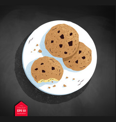Top view of cookies vector