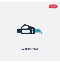 two color gasoline pump icon from industry vector image