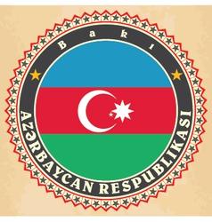 Vintage label cards of azerbaijan vector