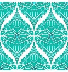 Vintage seamless pattern with gemstones vector image