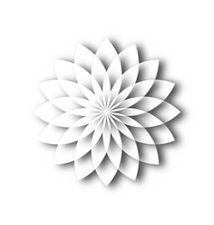 white paper lotus blossom design element with 3d vector image