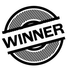 winner black stamp vector image