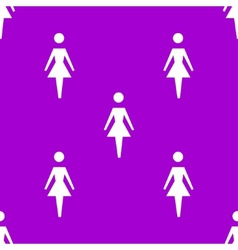 woman restroom web icon flat design Seamless vector image