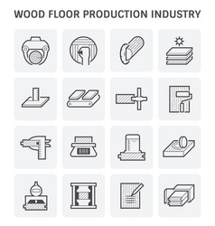 Wood production icon vector