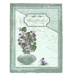Best Wishes postcard vector image vector image