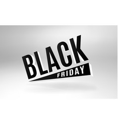 black friday 3d design banner vector image