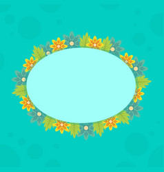 Collection of frame with spring flower vector