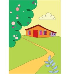cottage on the outskirts vector image