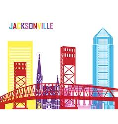 Jacksonville skyline pop vector image vector image