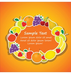 oval frame from fruits vector image
