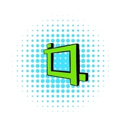 Photo frame icon in comics style vector image vector image