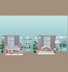 professional cleaning services flat vector image