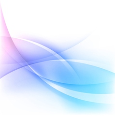 abstract blue wavy lines background vector image vector image