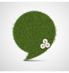 Bubble for speech made of grass vector image