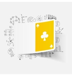 Drawing business formulas playing card vector