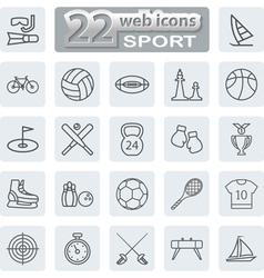 icon lines set vector image