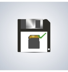 Icon successful write vector image vector image