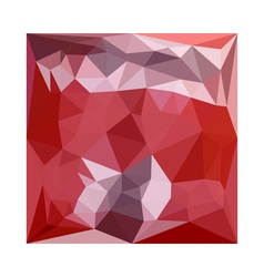 Pale violet red abstract low polygon background vector