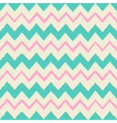 seamless chevron pattern in blue and pink vector image vector image