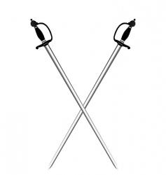 silver swords vector image vector image