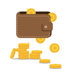 wallet and coins vector image