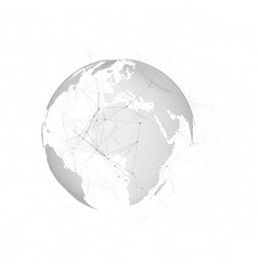 dotted world map with chemistry pattern vector image