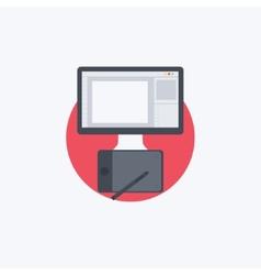 Flat Designer vector image