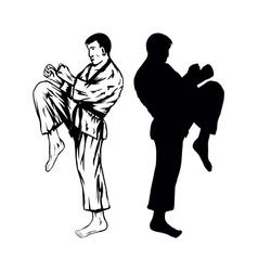 karateVer2 vector image
