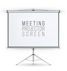 meeting projector screen presentation vector image vector image