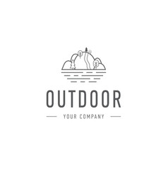 outdoor explorer badge of outdoor vector image
