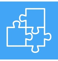 Puzzles vector image vector image