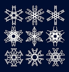 Snowflake Set Christmas and new year concept vector image