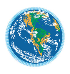 americas earth doodle vector image vector image