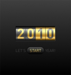 digital counter 2010 vector image vector image