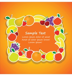 frame from fruits vector image