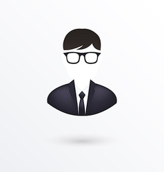 Icon of businessman Isolated on white vector image vector image