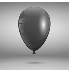 3d realistic black balloon holiday flying vector image