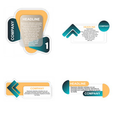 Abstract paper infographic eps10 vector