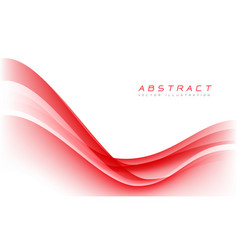 abstract red wave curve on white blank space vector image