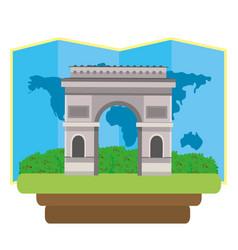 arc de triomphe icon vector image