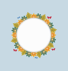 Art of wreath frame spring vector