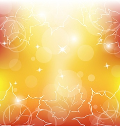 Autumn orange background with maple leaves vector image