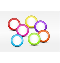 Background with Colorful Cirles vector