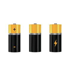 Batteries set vector