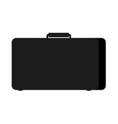 black case isolated suitcase on white background vector image