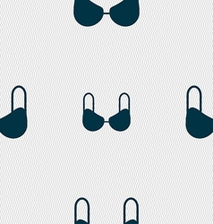 Brassiere top icon sign Seamless pattern with vector