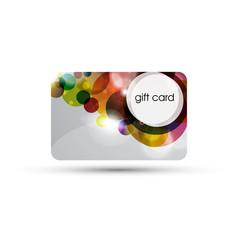 Bubble Gift Card Design vector image