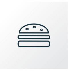 burger icon line symbol premium quality isolated vector image