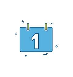 calendar time date icon vector image