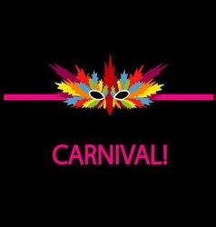 Carnival mask coloful vector
